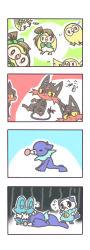 4koma artist_request crying froakie litten oshawott pokemon pokemon_(game) pokemon_sm popplio rowlet tagme