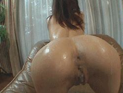 animated animated_gif anus asian ass bent_over censored cream legs looking_back lowres mad-34 photo pussy yoko/kaede