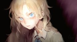 1girl blonde_hair blue_eyes crying crying_with_eyes_open gunni ib long_hair looking_at_viewer mary_(ib) tears