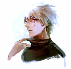 1boy hatake_kakashi head kae_hokora looking_at_viewer male_focus mole mole_under_mouth naruto scar short_hair silver_hair solo spiked_hair spoilers