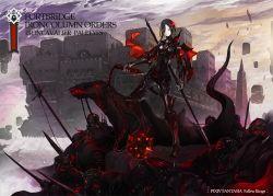 armor black_hair commentary_request copyright_name ishinarimaru_shouten pixiv_fantasia pixiv_fantasia_fallen_kings sword weapon
