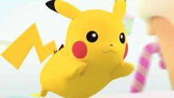 3d animated animated_gif asian crown hat kyary_pamyu_pamyu nintendo photo pikachu pokemon running