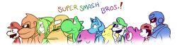 captain_falcon crossover donkey_kong fupoo human jigglypuff link luigi mario metroid ness pikachu samus_aran super_mario_bros. super_smash_bros. the_legend_of_zelda yoshi