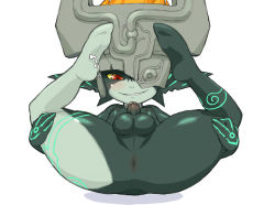 anus blush erection futanari imp_midna kemonon looking_at_viewer midna monster_girl penis photoshop pointy_ears red_eyes small_penis testicles the_legend_of_zelda twilight_princess yellow_sclera