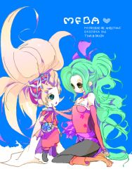 dissidia_final_fantasy final_fantasy green_hair oekaki onion_knight tina_branford triangle_mouth very_long_hair