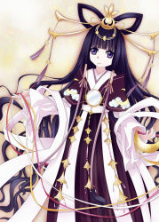 1girl black_hair blue_eyes highres japanese_clothes long_hair tomoyo_hime tsubasa_chronicle very_long_hair