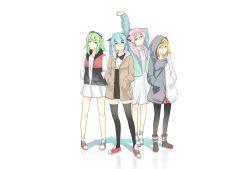 4girls group gumi hatsune_miku kagamine_rin long_hair megurine_luka multiple_girls suppakarn_prakobkij_(soompook2122) twintails vocaloid