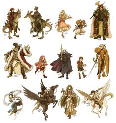 3girls 6+boys absurdres adapted_costume alternate_costume arabian_clothes armor artist_name axe blonde_hair blue_eyes bowser cape crossover dark_pit dark_skin dc9spot dinosaur dress facial_hair fire_emblem full_armor green_hair hat highres humanization kid_icarus kid_icarus_uprising king_dedede kirby kirby_(series) knight long_hair looking_at_viewer luigi mario mario_(series) mask meta_knight metroid multiple_boys multiple_girls mustache palutena parody pegasus pegasus_knight pit_(kid_icarus) princess_peach red_hair samus_aran shield smile super_mario_bros. sword toad villager_(doubutsu_no_mori) weapon wii_fit wii_fit_trainer wings yoshi