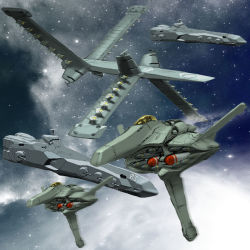 antennae canopy carrier cockpit cruiser energy_cannon fleet highres igunuk milky_way missile original pilot realistic rocket_launcher science_fiction ship space space_craft star_(sky) starfighter turret warship weapon