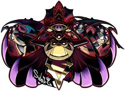 aegislash artist_name highres no_humans pokemon shield sido_(slipknot) simple_background sword weapon white_background