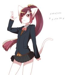 artist_request cat furry long_hair ponytail red_eyes red_hair