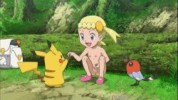 blonde_hair eureka_(pokemon) loli nipples nude pikachu pokemon pussy