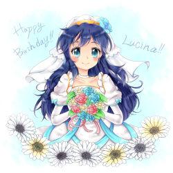 1girl artist_request blue_eyes blue_hair breasts dress fire_emblem fire_emblem:_kakusei lucina nintendo