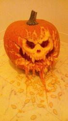 carving fangs halloween jack-o'-lantern marlboro_(artist) original photo pumpkin seed