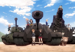 6+girls anchovy beret black_legwear blazer blonde_hair blue_eyes blue_skirt boots braid brown_eyes brown_hair cup darjeeling drill_hair eyes_closed garrison_cap girls_und_panzer green_hair hair_ribbon hat holding instrument jacket jingle_(4839ms) kantele karl_gerat katyusha kay_(girls_und_panzer) loafers long_hair long_sleeves m26_pershing mika_(girls_und_panzer) military military_uniform military_vehicle miniskirt mortar_(weapon) multiple_girls nishi_kinuyo nishizumi_maho nishizumi_miho no_hat one_eye_closed outdoors pantyhose pleated_skirt red_skirt ribbon school_uniform shimada_arisu shoes short_hair sitting skirt socks standing sweater t28_super_heavy_tank tank teacup thighhighs thumbs_up trait_connection turtleneck twin_drills twintails uniform vehicle vehicle_request white_legwear white_skirt yellow_skirt