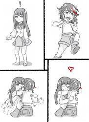 child heart hug kill_la_kill kiryuuin_satsuki matoi_ryuuko roman_imperial siblings sisters what_if