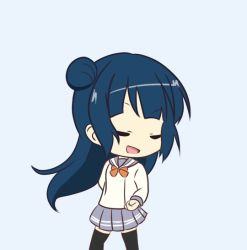 animated blue_hair character_request close_eyes dancing tagme
