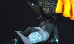 3d animated animated_gif ass imp midna pointy_ears the_legend_of_zelda twilight_princess