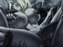 1girl anal anus black_package_try blonde_hair breasts censored double_penetration game_cg gangbang genecrazer_saki group_sex handjob huge_breasts multiple_penises nipples nude oral penis pussy sex sweat vaginal
