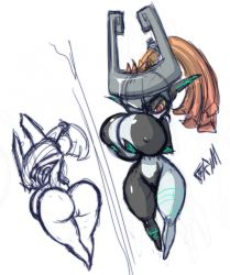 ass breasts imp large_breasts midna the_legend_of_zelda twilight_princess