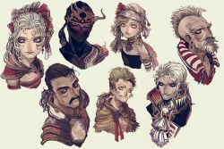 cayenne_garamonde final_fantasy final_fantasy_vi gau kurkoboltsi relm_arrowny setzer_gabbiani shadow_(ff6) stragus_magus tina_branford