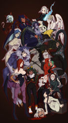 ! 2boys 6+girls :d :o absurdres alucard_(hellsing) alucard_(hellsing)_(cosplay) android angel_wings animal_costume animal_ears animal_print apron axe bandage bangs bare_shoulders barefoot bat_print bat_wings batman_(series) beowulf_(skullgirls) big_band black_background black_boots black_eyes black_hair blood blood_on_face bloody_clothes bloody_marie_(skullgirls) bloody_weapon blue_eyes blue_hair blue_skin blunt_bangs bodysuit boots bow bowtie breast_hold breasts bridal_gauntlets bridal_veil bride brown_hair buttons cerebella_(skullgirls) chainsaw claws cleavage closed_mouth corpse_bride cosplay covered_navel covering covering_face cravat crossed_arms crossover dark_skin demon_girl disembodied_head doctor_octopus doctor_octopus_(cosplay) doctor_who double_(skullgirls) dragon dress eliza_(skullgirls) emily_(corpse_bride) epaulettes everyone expressionless extra_arms extra_eyes extra_mouth eyebrows eyepatch eyeshadow facial_mark fangs feathers filia_(skullgirls) five_nights_at_freddy's flipped_hair foxy_(fnaf) foxy_(fnaf)_(cosplay) friday_the_13th frills fukua_(skullgirls) full_body fur fur_trim gallon gallon_(cosplay) ganno glasses gloves glowing glowing_eyes green_hair green_lipstick grey_hair grin hair_ornament hair_over_one_eye hairband half-closed_eyes halloween hand_on_hip hands_on_own_face hands_on_own_knees harley_quinn harley_quinn_(cosplay) harness hat head_wings headless headless_horseman heart heart_cutout hellsing high_heel_boots high_heels highleg highleg_leotard highres hockey_mask holding holding_weapon hook hook_hand horse huge_weapon index_finger_raised jason_voorhees jason_voorhees_(cosplay) jedah_dohma jedah_dohma_(cosplay) knee_boots lace large_breasts leaning_forward leotard leviathan_(skullgirls) lipstick long_hair long_sleeves looking_up machinery maid maid_apron maid_headdress makeup mask military military_uniform monster_girl morrigan_aensland morrigan_aensland_(cosplay) ms._fortune_(skullgirls) multicolored_hair multiple_boys multiple_crossover multiple_girls muscle no_bra no_pupils nurse nurse_(silent_hill) nurse_(silent_hill)_(cosplay) nurse_cap open_mouth orange_hair outline painwheel_(skullgirls) pants pantyhose parasoul_(skullgirls) parted_bangs peacock_(skullgirls) pentagram pool_of_blood print_legwear purple_legwear purple_skin radio_antenna raised_eyebrows red_eyes red_hair robo-fortune robot robot_joints saddle samson_(skullgirls) shadow_the_hedgehog shadow_the_hedgehog_(cosplay) shamone_(skullgirls) sharp_teeth short_dress short_hair short_twintails shuriken silent_hill silver_hair simple_background skull_hair_ornament skullgirls smile sonic_the_hedgehog spider-man_(series) squigly_(skullgirls) standing stitched_mouth stitches strapless streaked_hair succubus sunglasses tail taut_clothes teeth television tentacle the_ring thick_eyebrows tied_hair tongue top_hat turtleneck twintails two-tone_hair uniform valentine_(skullgirls) vampire_(game) veil very_long_hair vice-versa_(skullgirls) waist_apron waistcoat weapon wedding_dress weeping_angel weeping_angel_(cosplay) werewolf white_hair wings yamamura_sadako yamamura_sadako_(cosplay) yellow_eyes zombie