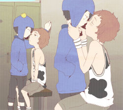 2boys child craig_tucker incipient_kiss kyle_broflovski male motw1130 multiple_boys south_park yaoi