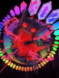 alternate_form crystal grin mega_pokemon mega_sableye nintendo no_humans pokemon pokemon_(game) pokemon_oras red_eyes sableye teeth
