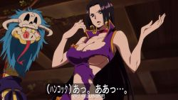 black_hair boa_hancock breasts large_breasts one_piece salome snake tagme torn_clothes translation_request