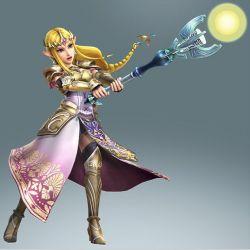 1girl blonde_hair dominion_rod long_hair official_art pointy_ears princess_zelda solo staff the_legend_of_zelda twilight_princess zelda_musou