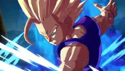 android angry animated animated_gif arc_system_works aura battle cell_(dragon_ball) destruction dragon_ball dragon_ball_fighter_z dragonball_z energy epic explosion father_and_son fighting injury kamehameha looking_at_viewer male_focus multiple_boys muscle serious smile son_gohan son_gokuu spiked_hair stadium super_saiyan super_saiyan_2 talking vegeta