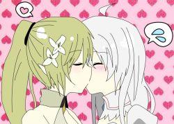 blush elsword eve_(elsword) green_hair rena_(elsword) tagme yuri