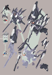 absurdres advance_of_zeta advance_of_zeta_re-boot brown_background character_sheet gundam highres kenki_fujioka mecha no_humans tr-6_woundwort zeta_gundam_(mobile_suit)