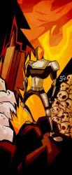 1boy armor dc_comics deathstroke male_focus mask skull solo teen_titans