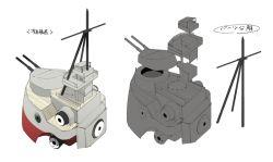 bridge cannon diagram kantai_collection mast no_humans original siirakannu simple_background turret