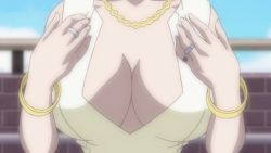 00s 1girl animated animated_gif bouncing_breasts breasts cleavage huge_breasts jewelry katsura_manami lowres milf necklace nipples ring school_days shiny_days solo summer_days undressing